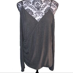 Forever 21 Plus NWT Cold-Shoulder Gray Top 3X